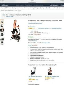 Cross trainer and bike 2in1