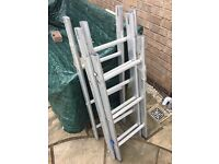 Ladders - Aluminium 4 section surveyors ladders