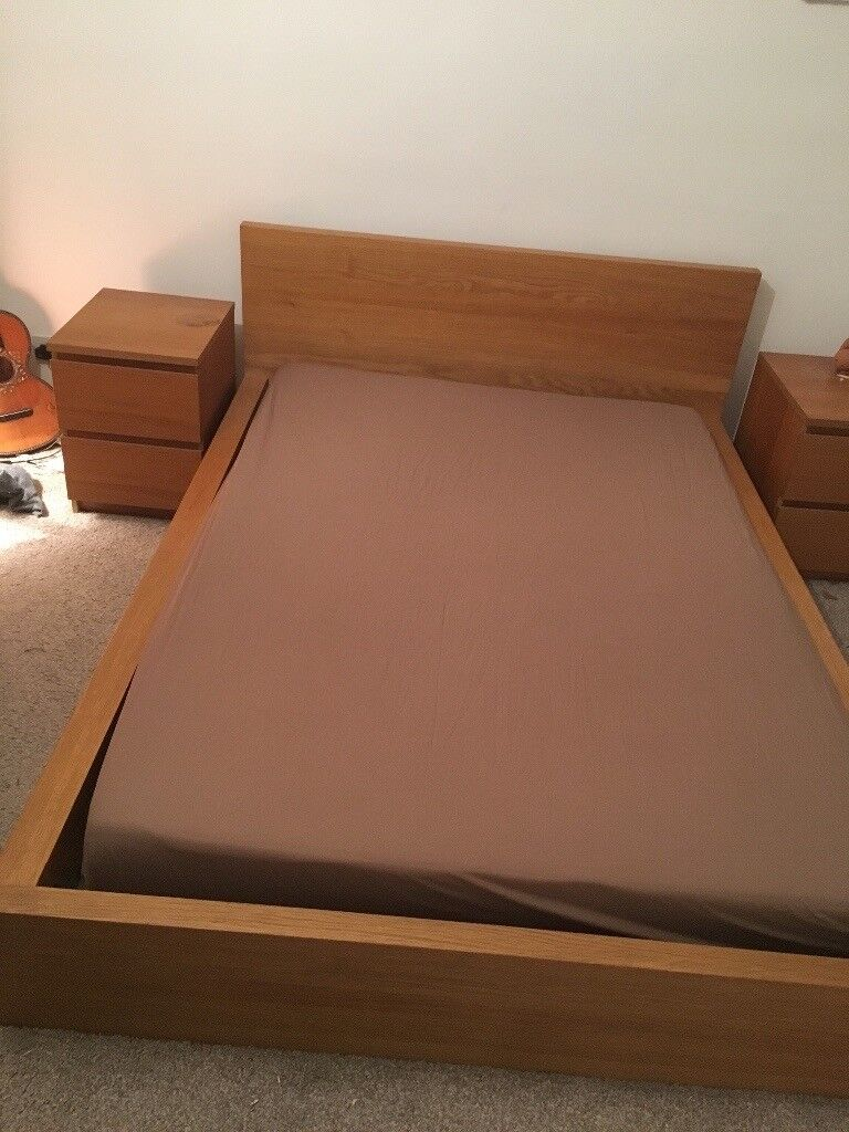 Ikea double bed with memory form mattress