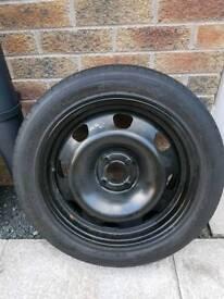 Renault grand scenic spare wheel