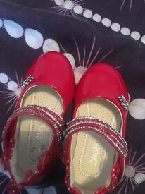 Girls red shoes