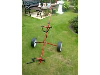 TITLEIST MERLIN TWO WHEELED GOLF TROLLEY - RED