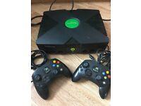 Original Xbox plus 2 controllers & games!!