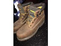 De Walt men's brown work boots NEW worn once size 10