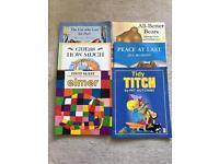 6 large books
