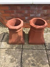 Two matching chimney pots