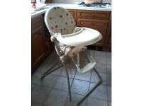 Mamas and Papas high chair with sliding tray