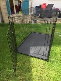 Pets at Home Single Door Dog Crate Large Black