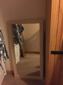 Maple mirror and matching shelf