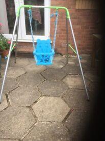 Folding nursery swing