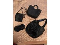 Selection of bags and purse - black