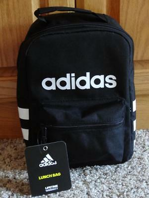 New ADIDAS SANTIAGO Insulated LUNCH BOX-BAG  Black & White   *RARE*