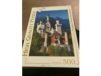 """Pre owned High Quality """"Schloss Neuschwanstein"""" Jigsaw - complete 500 pieces. Excellent condition"""