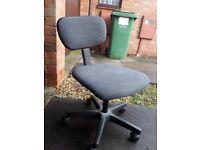 Grey swivel desk chair