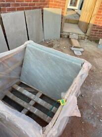 Kandla Grey Marshall's Indian Sandstone Patio Slabs Grey multi
