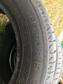"""set of 4 195/60R 15"""" tyres £12 each or £40 for all"""