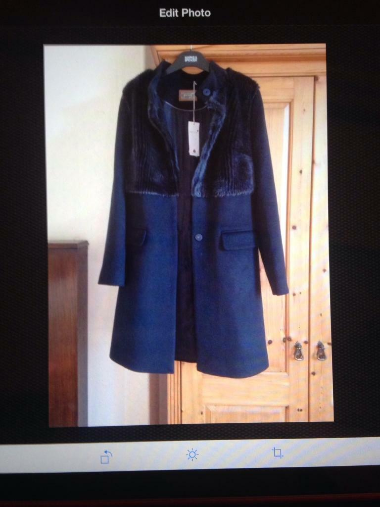 new arrivals timeless design finest selection M & S Per Una Navy Wool ladies Coat. Size 8 | in Carlisle, Cumbria ...