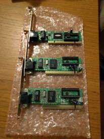 3x Ethernet cards. Great for setting up a home server