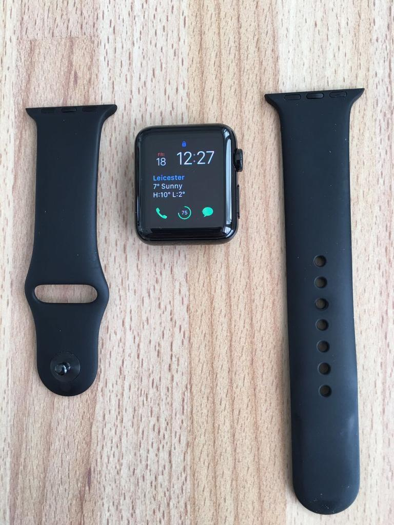 Apple Watchin Syston, LeicestershireGumtree - For Sale Apple Watch 38mm stainless steel case. Excellent condition. Comes with spare strap and original box