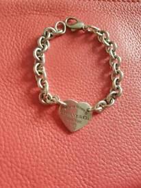Tiffany sterling silver heart bracelet