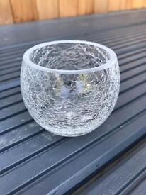 Crackled glass tea light holder x 18