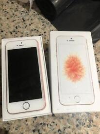 Unlocked iPhone SE rose gold