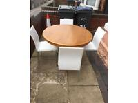 Lovely pine dining table with 4 chairs