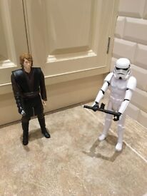 HASBRO Star Wars Anakin and Imperial Stormtrooper Toy Figures