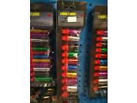 10pc 3/8 shallow coloured sockets