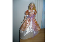 Barbie Princess Doll OOAK. New doll, dress, crown/tiara and shoes. 6 different designs. Christmas..