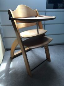 Wooden adjustable child's chair