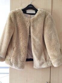 Zara faux fur jacket CLEARANCE