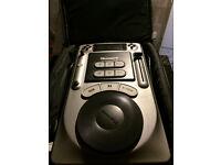 2x Numark AXIS4 cd decks with camo flight bags