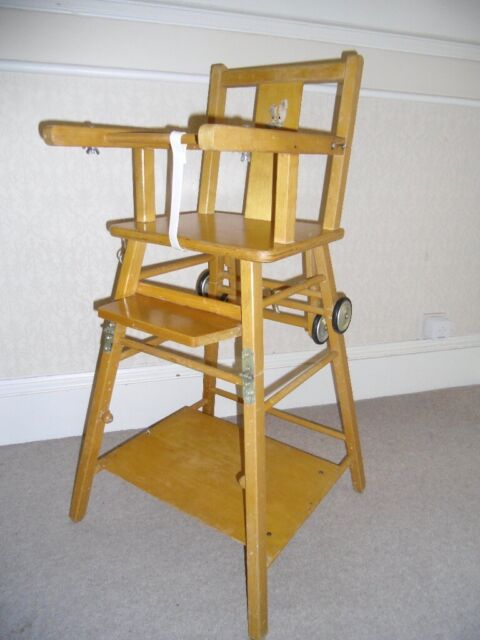 Fantastic Vintage Wooden High Chair From 1960S 70S In Brighton East Sussex Gumtree Pdpeps Interior Chair Design Pdpepsorg