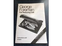 George Foreman Family 5 portion Fat Reducing Grill, new in box
