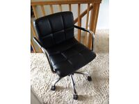 Next cube faux leather office desk chair
