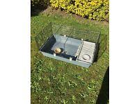 Guinea pig or rabbit indoor cage, outdoor hutch and outdoor ark run