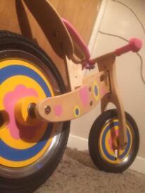 Girls wooden balance bike