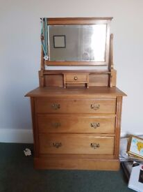 Antique Pine Chest a Drawers