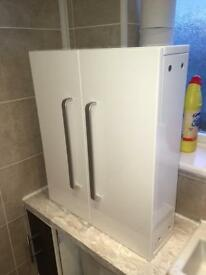 BRAND NEW wall storage cabinet white gloss vanity unit