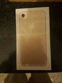 Brand New Sealed In Box Apple iPhone 7 Gold 128gb