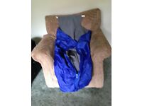 Wheelchair users medium zipped, waterproof and warm sit in cover. Ideal for those chilly days.