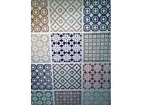 Batik Pattern Tiles in assorted colours.