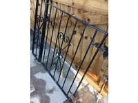 Wrought iron gate and side panel