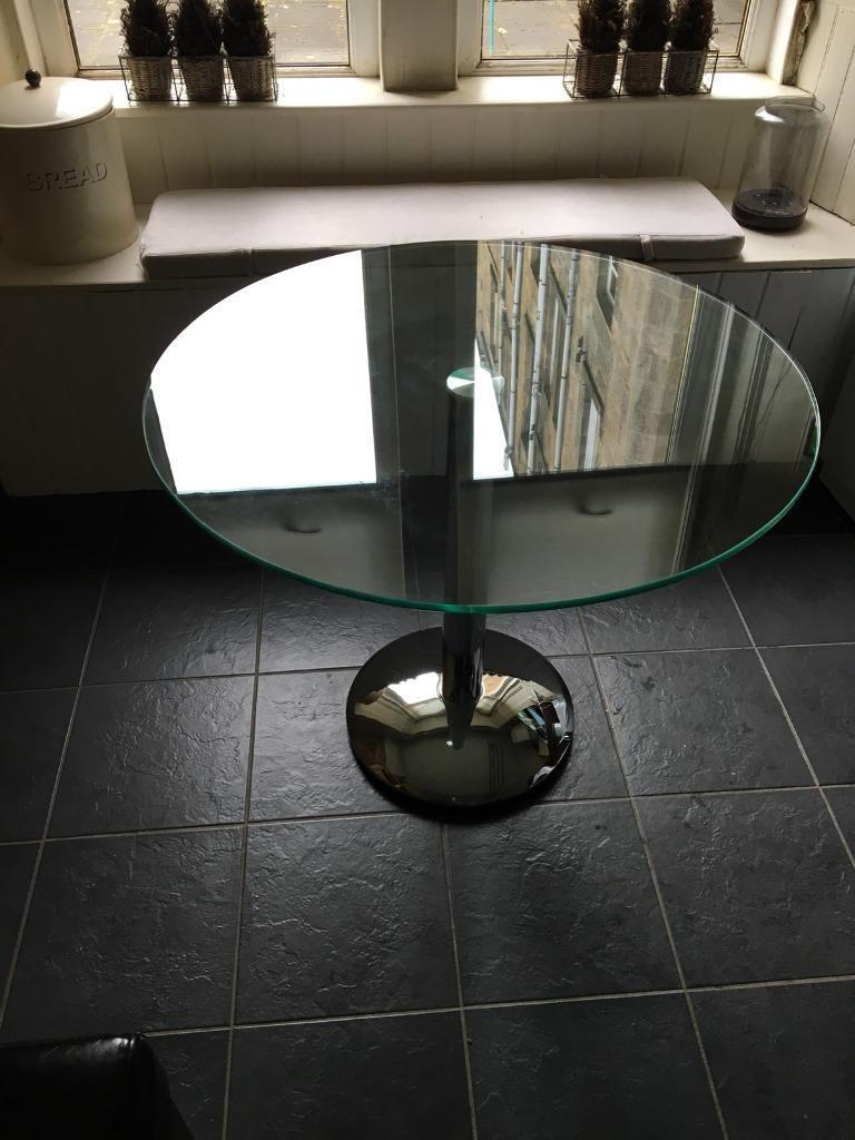 Circular Glass Dining Table
