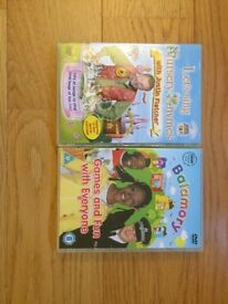Cbeebies DVD's. Justin Fletcher Nursery rhymes and Balamory