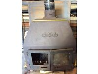 Wood-burning stove with back boiler multi fuel