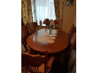 Quality Homestore dining table and 6 chairs for sale