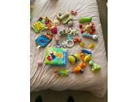 Baby rattles toys etc