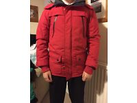Next Red Parka - excellent condition only worn twice - Age 12